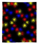 Primary Bursts Under Glass Fleece Blanket