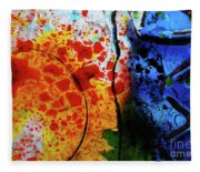 Primary Crystal Abstract Fleece Blanket