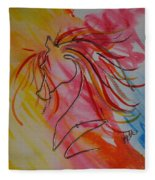 Primary Horse Fleece Blanket