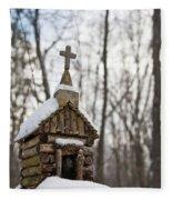 Primitive Church In The Mountains Fleece Blanket