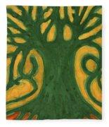Primitive Tree Fleece Blanket