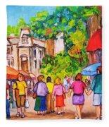Prince Arthur Street Montreal Fleece Blanket