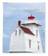 Prince Edward Island Lighthouse Poster Fleece Blanket
