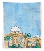 Prince Of Wales Museum Mumbai Fleece Blanket