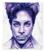 Prince Purple Watercolor Fleece Blanket