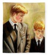 Prince William And Prince Harry Fleece Blanket