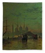 Prince's Dock Hull Fleece Blanket