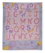Princess Alphabet Fleece Blanket