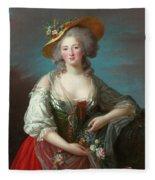 Princess Elisabeth Of France Fleece Blanket
