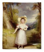 Princess Victoria Aged Nine Fleece Blanket