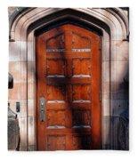 Princeton University Wood Door  Fleece Blanket