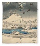 Print From The Tale Of Genji Fleece Blanket