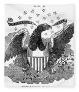 Printers Cut, 1825 Fleece Blanket
