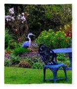 Priscillas English Garden Fleece Blanket