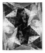 Prismatic Vision - Black And White Fleece Blanket