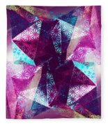 Prismatic Vision - Darker Version Fleece Blanket