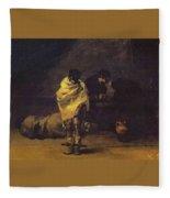 Prison Scene Francisco Jose De Goya Y Lucientes Fleece Blanket