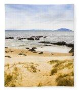 Pristine Beach Background Fleece Blanket