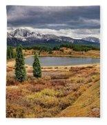 Pristine Mountain Lake Fleece Blanket