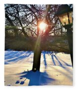 Pristine Snowfield Fleece Blanket