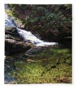 Pristine Stream Pool Fleece Blanket