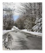Private Country Road Fleece Blanket