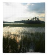 Private Palm Island Fleece Blanket
