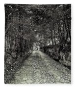 Private Road B Fleece Blanket