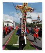 Procession In Furnas - Azores Fleece Blanket
