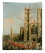 Procession Of The Knights Of The Bath Fleece Blanket