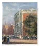 procession with Queen Victoria Fleece Blanket