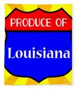 Produce Of Louisiana Shield Fleece Blanket