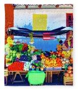 Produce Seller Fleece Blanket