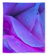 Profile Of A Rose Fleece Blanket
