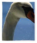 Profile Of A Swan Fleece Blanket