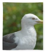Profile Of Adult Seagull Fleece Blanket