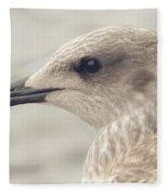 Profile Of Juvenile Seagull Fleece Blanket