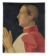 Profile Portrait Of Cardinal Philippe De Levis Fleece Blanket