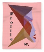 Profile W. Text Fleece Blanket