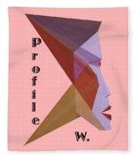 Profile W. Text Fleece Blanket