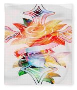 Profound Thought Cross And Roses Fleece Blanket
