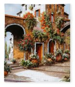 Profumi Di Paese Fleece Blanket by Guido Borelli