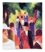 Promenade II By August Macke Fleece Blanket