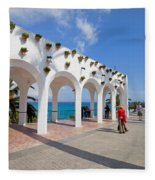 Promenade In Nerja Fleece Blanket
