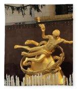 Prometheus Rockefeller Center Fleece Blanket