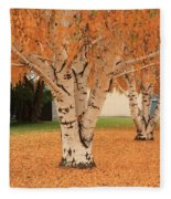 Prosser - Autumn Birch Trees Fleece Blanket