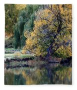 Prosser - Autumn Reflection With Geese Fleece Blanket