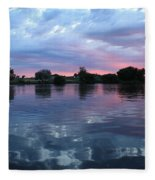 Prosser Pink Sunset 5 Fleece Blanket