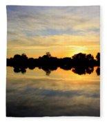Prosser Sunset - Blue And Gold Fleece Blanket