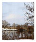 Prosser Winter - Brown And Burgundy Fleece Blanket